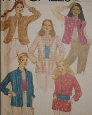 McCall's 6876 Sewing Pattern Misses' Lined Mandarin Collar Jackets Sz 10 UC HTF