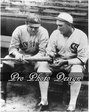 Yankees Babe Ruth & shoeless Joe Jackson 8x10 Photo Print Wall Art Decor (C9)