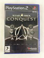 PS2 Star Trek Conquest (2008), UK Pal, Brand New & Factory Sealed, Small Tear
