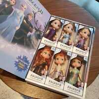6PCS Birthday Gift Playset Frozen 2 Princess Elsa Anna Doll Toy Gift Box Toy