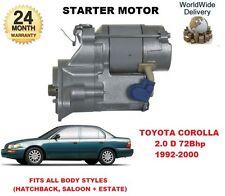 FOR TOYOTA COROLLA 2.0 D 1992-2000 NEW ORIGINAL STARTER MOTOR