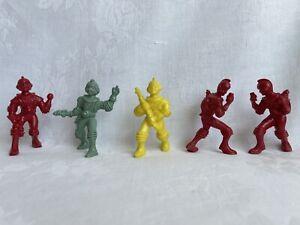 "Ajax Archer Spacemen Space Figures Plastic Toy Figures 3"" Lot of 5"