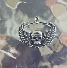 GOTHIC BIKERS MOTORCYCLE 2 HIS & HERS SKULL with Wings ZIPPER  PULLS All New