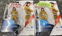 2x Star Wars The Last Jedi 3.75-Inch Figure Force Link Resistance Tech Rose