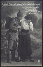 AK Postcard 1915 Army Soldiers Romance Armee Soldaten Woman Feldpost WWI (17)
