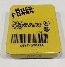 AGC-9 Cooperman Busmann Pack of 5 Buss Fuses 9 Amp 250V