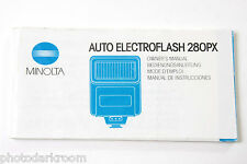 Minolta 280PX Electroflash Manual Instruction Book - English + - USED B17 GD