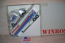 1993 Kawasaki Motorcycle Winross Diecast Delivery Trailer Truck