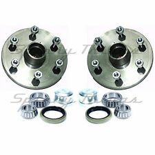 Hubs (PAIR) 4WD 6 stud LANDCRUISER with FORD bearings - Caravan Trailer Parts