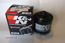 K&N FILTRO OLIO Per SUZUKI GSX R 600 2005 2006 COD KN 138