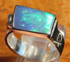 Neon Opal 3.6 quilates 950er anillo de plata tamaño 18,1 mm