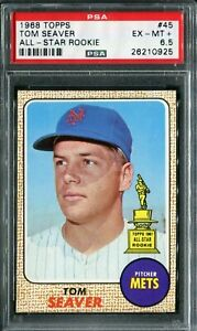 1968 Topps #45 Tom Seaver All-Star Rookie PSA 6.5 EX-MT+
