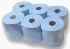 6/12/24/48 Pack Centre Feed Rolls Embossed Blue Hand Towels Office Workshop 2Ply