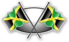Cross Flags Design With Jamaica Jamaican Flag vinyl car sticker Decal 90x52mm