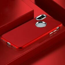 Apple iPhone X / XS Hybrid Rubber Silicone Metal Protective Phone Case Cover Red