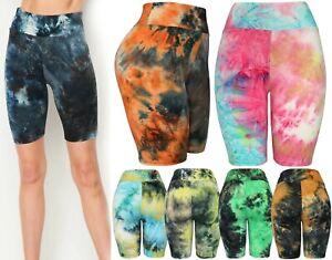 Super Soft Tie Dye Colorful Biker Shorts - Yoga, Biking, Running Bermuda Shorts