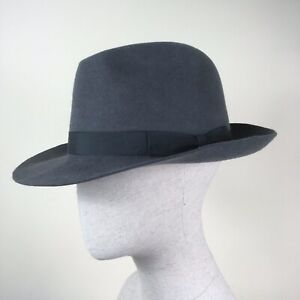 Grey Failsworth Felt Fedora Trilby Hat