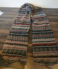 Barbour Wool Scarf - Grey / Red / Blue