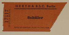 old ticket Hertha BSC Berlin Borussia Dortmund BVB 2:3 50-60-70?? Germany