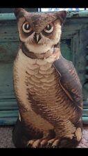 Primitive HOOT OWL cloth Animal DOLL 1892 reproduction Litho Rag Pillow PRIM Owl