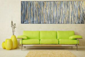 Original gold fields painting abstract modern art wall décor by Jane choose size