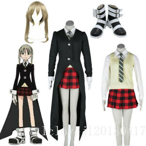 Details about  /Soul Eater MAKA ALBARN Uniform Full Suit Custom Made Cosplay Costume Outfit