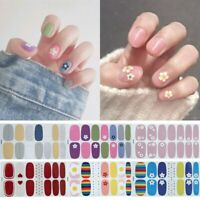 14tips/set Full Cover Nail Stickers Wraps 2019 New Styles DIY Adhesive Sliders