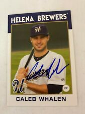 Caleb Whalen 2016 Signed Helena Brewers Team Card