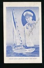 Sailing Yacht Ketch IDLE HOUR Dwight Long 5 year World Cruise c1934 signed PPC