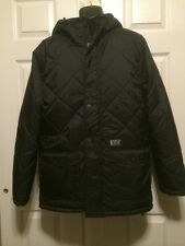 HURLEY MENS BLACK Heavy JACKET SNOWBOARD SKI SNOW COAT FLEECE LINED LARGE