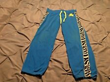 Justice Girl's Blue & Neon Yellow Softball Pants. Size 14 Free Shipping!
