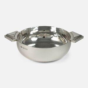 Sterling Silver Spot-Hammered Quaich, R.E. Stone, London, 1946