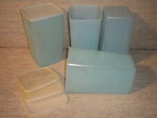 Vintage Tupperware Cracker Cheese Containers 8 Cups Blue