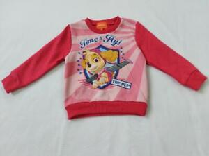 Girls Nickelodeon Time to Fly Paw Patrol Long Sleeves Jumper Pink/Red +Sizes