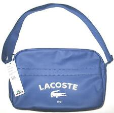 Lacoste unisex Airline/Gym Bag in Twilight Blue PVC #NH0323SR, NWT