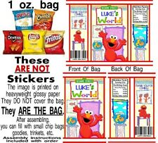 12 Elmo's World Birthday Party Chip Bags Treat Gift Baby Shower Sesame Street