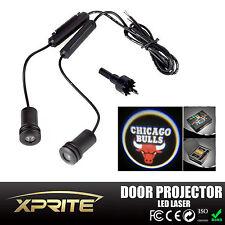 2x Chicago Bulls 5W LED Car Door Laser Projector Ghost Shadow Step Light Logo