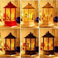 Christmas LED Hanging Lamp Santa Claus Deer Snowman Flame Light Xmas Decor Gifts