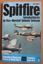 """1969 """"Spitfire"""" by John Vader  Ballantine's Illustrated History of WWII, 160 pg"""