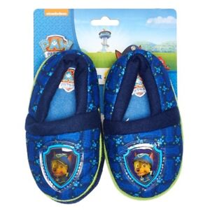 PAW PATROL CHASE POLICE PUP Comfy Slippers NWT Toddler's Sizes 5/6, 7/8 or 9/10