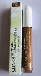 Clinique Even Better All-Over Concealer + Eraser WN115.5 mocha BNIB rrp £23