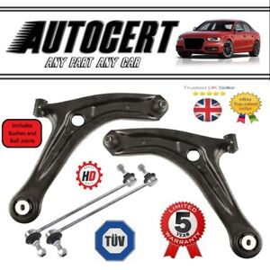 FORD FIESTA MK7 2008> FRONT LOWER CONTROL ARM WISHBONES PAIR & LINK BARS L + R
