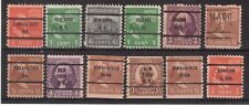 USA LOT OF 12 EARLY PRE-CANCELED STAMPS !!  H75