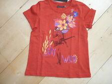 SO 16 - Catimini SPIRIT étnicos Camiseta, Rojo Flores Talla 7a