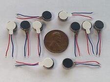 10 pcs 8mm 3V Pancake Vibration Motor Adhesive Flat Coin 8mm x 3.4mm 0834