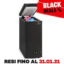 Congelatore Pozzetto Freezer Orizzontale Classe A+ 50 Litri Nero Eco Cucina