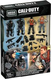 Call of Duty Mega Construx SPECIAL FORCES VS SUBMARINERS Action Figure Set