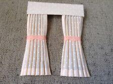 Pretty 1/12 Scale Dolls House Curtains - Peach Polka Dot
