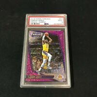 2018 Panini Threads Dazzle Purple 96/99 LEBRON JAMES PSA 9 LA Lakers ~AA4-966