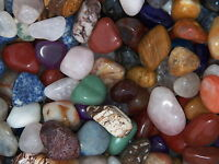 3000 Carat Lots of Size #7 Tumbled Polished Gemstones + A FREE Faceted Gemstone